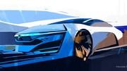 Honda FCEV, la pile à combustible sous la forme d'un concept au salon de Los Angeles