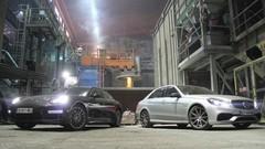 Essai Mercedes Classe E 63 AMG vs Porsche Panamera Turbo : Brutes de fonderie