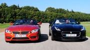 Essai BMW Z4 sDrive 35is vs Jaguar F-Type V6 : Duel au soleil d'hiver