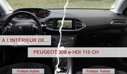 A l'intérieur de ...la Peugeot 308 e-HDI 115 ch