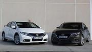 Comparatif Mazda 3 vs Honda Civic : déficit d'image