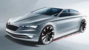 Skoda VisionC : premier croquis d'un concept de coupé-5 portes