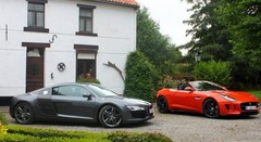 Essai Audi R8 V8 vs Jaguar F-Type V8 S : Mélodies en huit majeurs