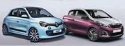 Les nouvelles Renault Twingo et Peugeot 108 en avance!