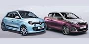 Première image des nouvelles Renault Twingo et Peugeot 108