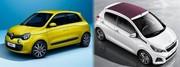 Renault Twingo 3 contre Peugeot 108 : Premier round