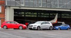 Essai Audi S3 vs BMW M135i xDrive vs Mercedes A45 AMG: Quatre à quatre