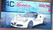 Alfa Romeo 4C Spider, les premières images scoop