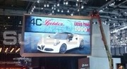 L'Alfa Romeo 4C Spider invitée de dernière minute!