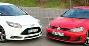 Essai Ford Focus ST vs Volkswagen Golf GTI : La quadrature du cercle