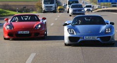 Essai Porsche 918 Spyder vs Porsche Carrera GT : Dépassement de soi