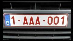 La Belgique s'offre des plaques d'immatriculation personnalisées