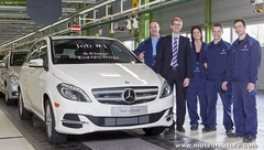 La Mercedes classe B électrique entre en production