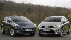 Essai Peugeot 5008 vs Toyota Verso : les outsiders