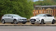 Essai Citroën DS5 Hybrid4 vs Volvo V60 Plug-In Hybrid : Du gazole et des watts