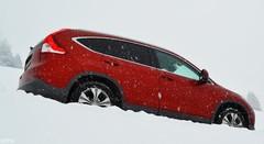 Essai Honda CR-V 4 en Suisse sur la neige
