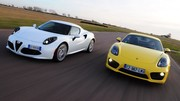 Essai Alfa Romeo 4C vs Porsche Cayman S : Armes de distraction massive