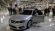 La production des Saab encore à l'arrêt