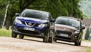 Essai Nissan Qashqai 1.5 dCi 2014 vs Peugeot 3008 1.6 HDi : le choc des millionaires !