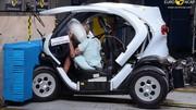 EuroNCAP mécontent des quadricycles Twizy