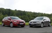 Essai Peugeot 308 SW vs Volkswagen Golf SW : la revanche ?