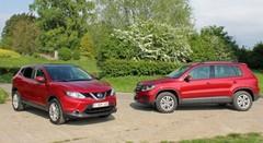 Essai Nissan Qashqai vs VW Tiguan : Enfoncer le clou ?