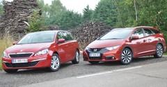Essai Honda Civic Tourer et Peugeot 308 SW : breaks compacts mais familaux