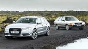 Essai Audi 100 Avant 1984 vs Audi A6 Avant 2014 : c'était mieux avant ?