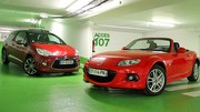 Essai Citroën DS3 Cabriolet vs Mazda MX-5 : Une question de toiles
