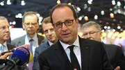 Visite de François Hollande au salon automobile de Paris