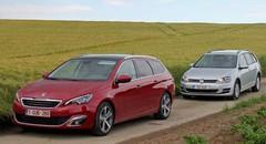 Essai Peugeot 308 SW vs VW Golf Variant : Combat de soute