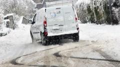 Hiver : rouler en tongs sur la neige