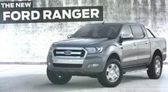 Le Ford Ranger restylé s'échappe sur la Toile