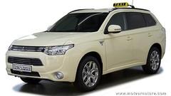 Le Mitsubishi Outlander PHEV devient taxi en Allemagne