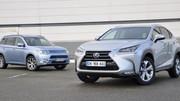 Essai Mitsubishi Outlander PHEV vs Lexus NX300h : faut-il recharger son SUV hybride ?