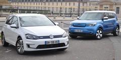 Essai Volkswagen e-Golf et Kia Soul EV : match électrique