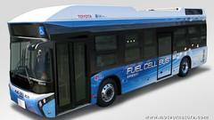 Un nouveau bus à hydrogène en service aujourd'hui : Merci à la Toyota Mirai