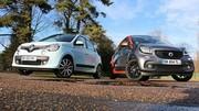 Essai Renault Twingo 3 vs Smart Forfour 2