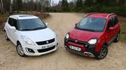 Essai Fiat Panda Cross vs Suzuki Swift 4x4 : Les montagnards sont là