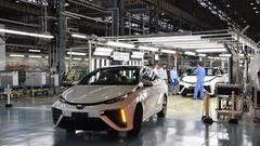 La Toyota Mirai à hydrogène en production à Motomachi