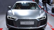 A bord de l'Audi R8, tirée à quatre épingles