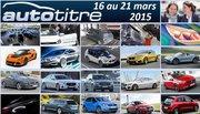 Les titres de l'actualité auto du 16 au 21 mars 2015