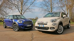 Essai Fiat 500X vs Mini Countryman : SUV sexy