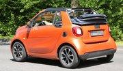 La future Smart fortwo cabriolet baisse la capote
