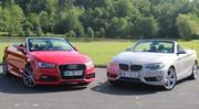 Essai Audi A3 cabriolet vs BMW Série 2 cabriolet : duel au soleil