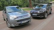 Essai Lexus NX 300h vs Mitsubishi Outlander PHEV : Hybridés