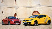 Essai Renault Mégane RS vs Peugeot RCZ R : combat de coqs
