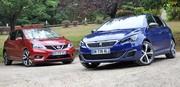 Essai Peugeot 308 GT et Nissan Pulsar GT : les compactes mettent le turbo