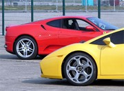 Match Ferrari F430 vs Lamborghini Gallardo : Western Spaghetti !