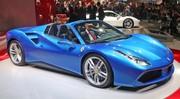 Ferrari 488 Spider, elle se découvre à Francfort